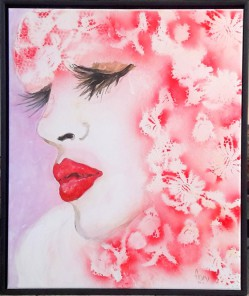 Close Pinklace Face, 50 x 60 cm
